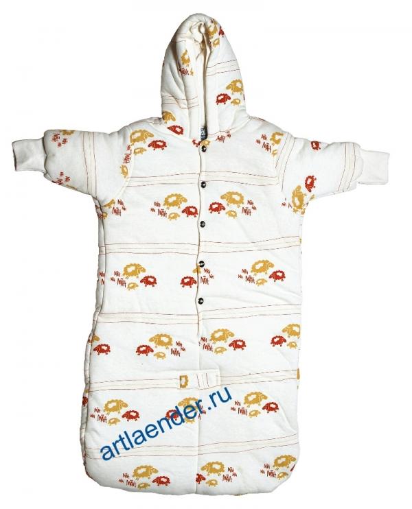 """Детский спальный мешок """"BabySafe Dreamy """" с капюшоном"""